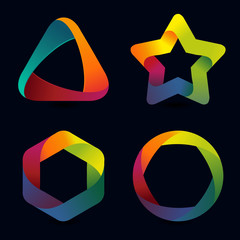 Vector rainbow logo templates
