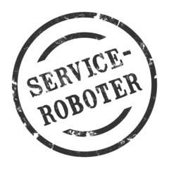 sk156 - StempelGrafik Rund - Serviceroboter - g1586
