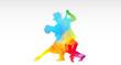 Постер, плакат: ballerini di tango colori fantasia danza ballerini tango