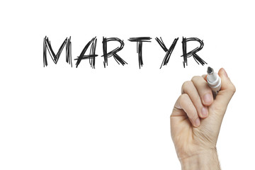Hand writing martyr