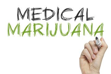 Hand writing medical marijuana