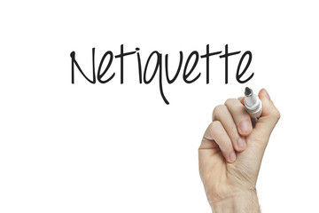 Hand writing  netiquette