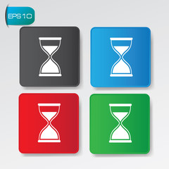 Hourglass on buttons,vector