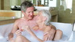 Senior Couple Relaxing In Bath Together