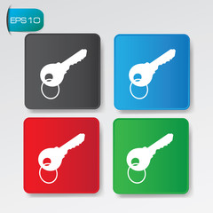 Key buttons,vector