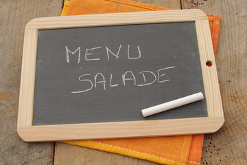 ardoise menu salade