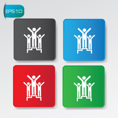Business people buttons,vector