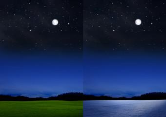 Mondlandschaft Sommer-Winter