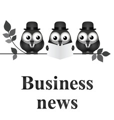 Monochrome comical business news concept