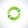 abstract circle symbol, recycle icon