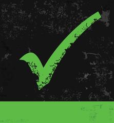 Green Check mark,Grunge vector