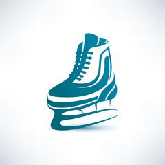 ice skates vector symbol