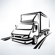 mini van outlined sketch, isolated vector symbol - 69774907