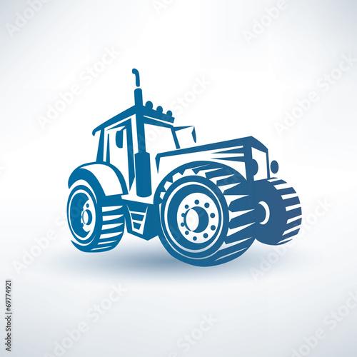 modern traktor vector symbol Plakát