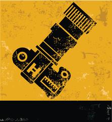Camera Symbol,yellow vector