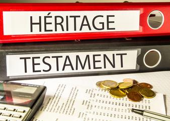 Héritage, Testament (Succession, Classeur)