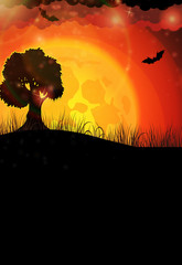 Tree and full moon