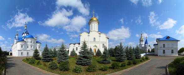 panorama of Zilant's orthodox monastery in Kazan