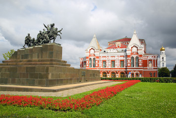 Chapaev monument and theater in Samara
