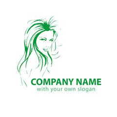 Friseur Kopf Gesicht Logo Silhouette Vektor