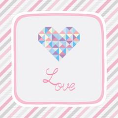Triangle pattern love card2