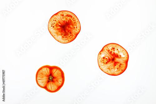 canvas print picture drei Tomatenscheiben