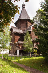 Wooden church of the Savior-Prilutsky Monastery(1519)