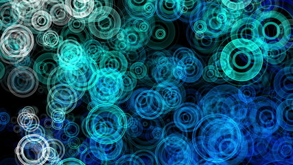 Blue Abstract Animated Circles