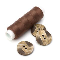 Brown spool of thread