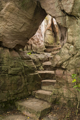 Stone Steps In Arch