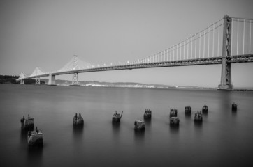 Bay Bridge Black and White