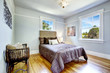 Beautiful bed with high headboard which perfectly blend with ant