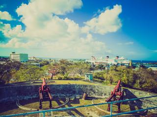 Retro look Fort Fincastle Nassau