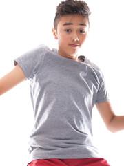 boy wearing t-shirt