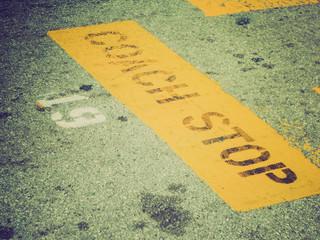 Retro look Coach Stop sign