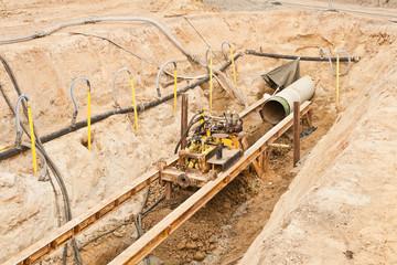 Grundwasserabsenkung für Bauarbeiten an einer Druckwasserleitung