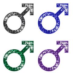 Glittering MALE Symbols