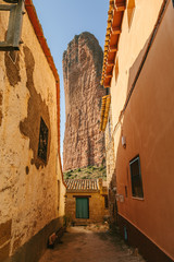 Mallos de Riglos in Huesca, Aragon, Spain