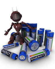 Android with batteries