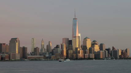Day To Night Time-lapse Sequence Of Manhattan Skyline