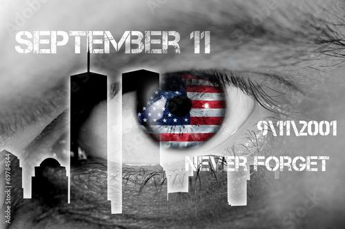 Poster concetto 11 settembre