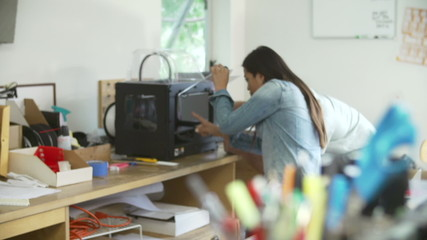 Two Architects Using 3D Printer To Make Models For Project