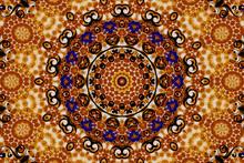 Mandala in bruine tinten
