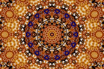 Mandala in brown tones
