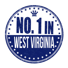 Number one in West Virginia stamp