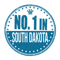 Number one in South Dakota stamp