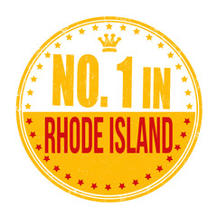 Number one in Rhode Island stamp