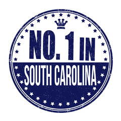 Number one in South Carolina stamp