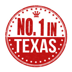 Number one in Texas stamp