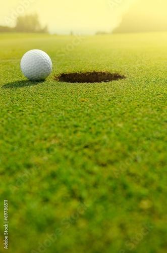 Leinwandbild Motiv Let's golf